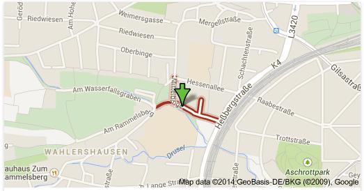 Streuobstwiese Mittelbinge Kassel-Kirchditmold, Karte bereitgestellt von Garten- und Umweltamt Stadt Kassel und BUND